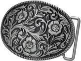 Buckle Rage Adult Womens Ornate Flowers Western Cowgirl Oval Belt Buckle