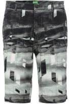 Hugo Boss Liem Print W Slim Fit, Cotton Shorts 34R Grey