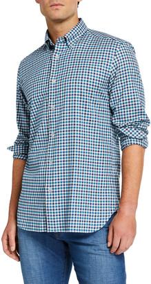 Neiman Marcus Men's Check Cotton Sport Shirt