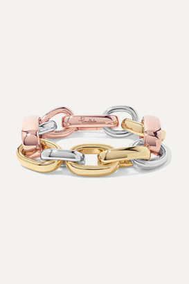 Pomellato Iconica 18-karat Yellow And Rose Gold And Rhodium-plated Bracelet - one size