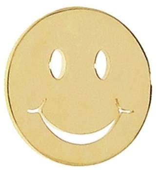 Sydney Evan Happy Face Single Stud Earring - Yellow Gold