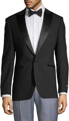 Saks Fifth Avenue Satin Lapel Tuxedo Jacket