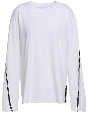 P.E Nation Printed Stretch Pima Cotton-jersey Top