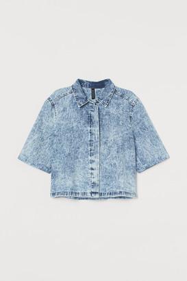 H&M Cropped denim shirt