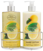 Citrus & Mint Hand Soap And Lotion Caddy Set