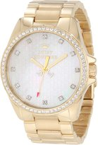 Juicy Couture Women's Stella 1901009 Gold Stainless-Steel Quartz Watch with Mother-Of-Pearl Dial
