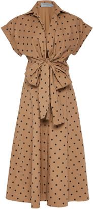 Silvia Tcherassi Rigone Belted Polka-Dot Cotton Shirt Dress