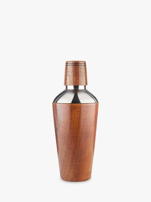 Final Touch Handmade Wood & Stainless Steel Cocktail Shaker, 500ml