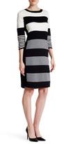 Joan Vass Striped Sweater Dress