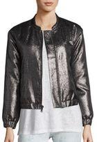 Paige Rosie HW x Flo Metallic Bomber Jacket