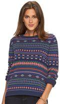 Chaps Petite Fairisle Crewneck Sweater