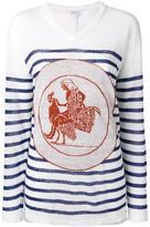 Loewe striped jumper - women - Linen/Flax - XS