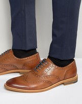 Dune Oxford Wing Tip Brogues Tan Leather