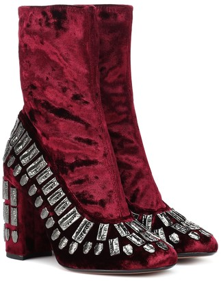 Samuele Failli Exclusive to Mytheresa Bea embellished velvet ankle boots