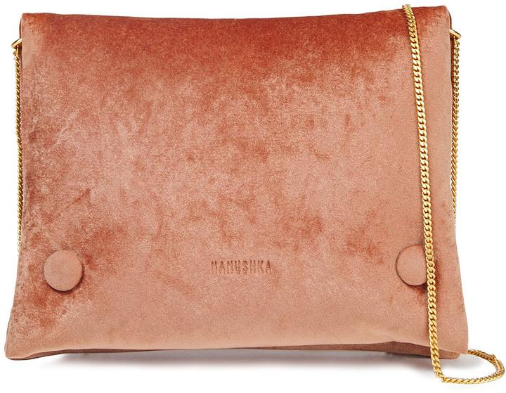 Nanushka Tao Velvet Shoulder Bag