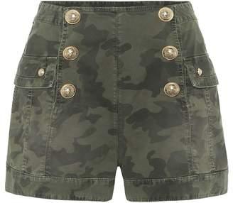 Balmain Camo stretch-cotton twill shorts