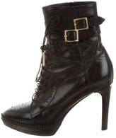 Burberry Leather Buckle Boots