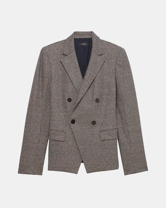 Theory Angled Blazer in Houndstooth Knit
