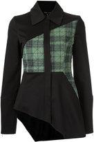 Gloria Coelho - asymmetric panelled jacket - women - Leather/Spandex/Elastane - 38