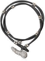 Vivienne Westwood Crystal Penis Leather Bracelet