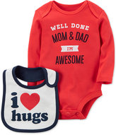 Carter's 2-Pc. I'm Awesome Cotton Bodysuit & Bib Set, Baby Boys (0-24 months)