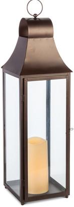 Everlasting Glow 28In Bronze Brown Metal Lantern