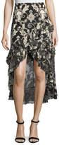 Alice + Olivia Sasha Asymmetric Tiered Ruffled Skirt