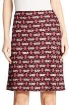 St. John Hiran Tweed A-Line Skirt