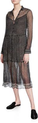 Rag & Bone Libby Printed Button-Front Midi Dress