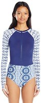 Roxy Women's Visual Touch Onesie Long Sleeve Rashguard