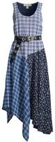 MICHAEL Michael Kors Belted Mixed-Print Dress