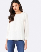 Forever New Christina Embroidered Blouse
