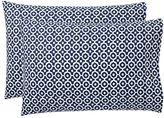 Bohemian Geo Pillowcases, Set of 2, Royal Navy
