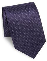 Brioni Dotted Zigzag Silk Tie