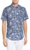 Vineyard Vines Men's Aquatic Hibiscus Murray Slim Fit Sport Shirt