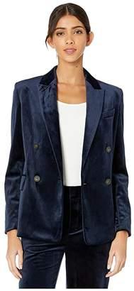 Vince Velvet Blazer (Baltic) Women's Clothing