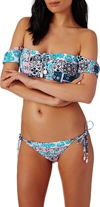 Seafolly Women's Tie Side Hipster Cheeky Coverage Bikini Bottom Swimsuit