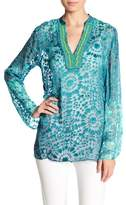 Hale Bob Long Sleeve Silk Blend Tunic