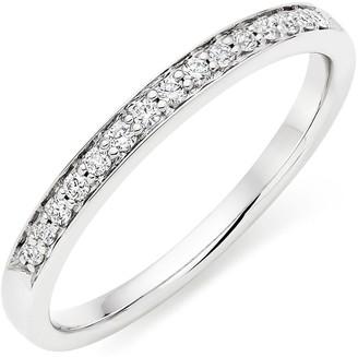Beaverbrooks Platinum Diamond Half Eternity Ring
