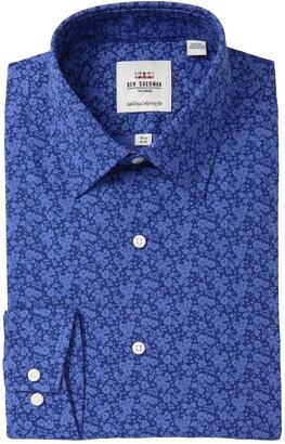 Ben Sherman Floral Tailored Skinny Fit Dress Shirt