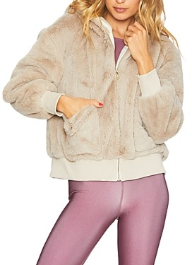 Beach Riot Fuzzy Faux Fur Jacket