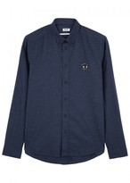 Kenzo Navy Embroidered Cotton Shirt