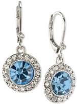 Carolee Silver-Tone Blue & Clear Crystal Drop Earrings