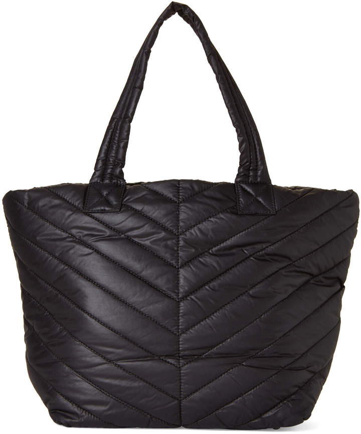 Urban Expressions Black Kickoff Quilted Nylon Tote