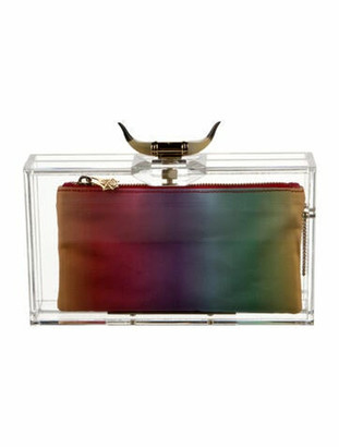 Charlotte Olympia Horn Pandora Clutch Clear