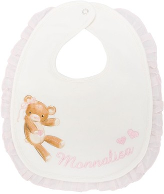 MonnaLisa Teddy Bear Ruffled Bib