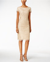 Alex Evenings Lace Cap-Sleeve Sheath Dress