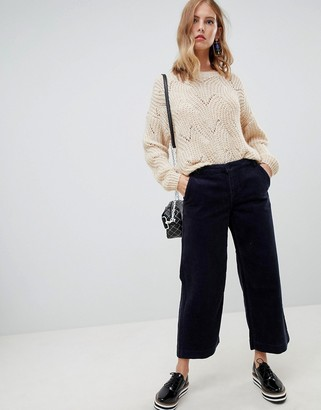 Only cord wide leg pants