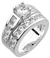Dillard's Boxed Collection Cubic Zirconia Engagement Ring & Wedding Band Set