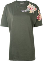 Amen embroidered T-shirt - women - Cotton/Viscose - 38